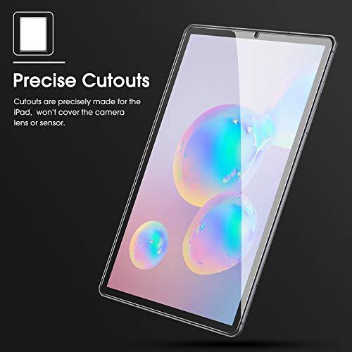 OMOTON [3 Stück] Panzerglasfolie für Samsung Galaxy Tab S6 und Galaxy Tab S5e mit Positionierhilfe, 9H Härte, Anti-Kratzer, Anti-Bläschen, [10.5 Zoll] Samsung Tab S6/ Tab S5e Displayschutz