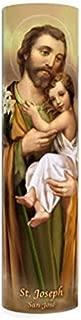 The Saints Collection Saint Joseph, LED Flameless Devotion Prayer Candle, 6 Hour Timer, Religious Gift