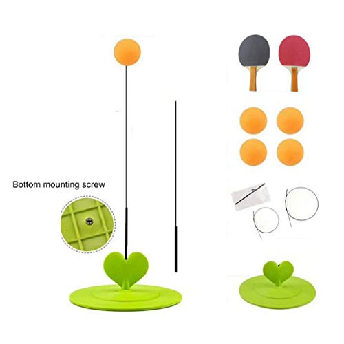 Find Discount Table Tennis Trainer Plastic Material Children Indoor and Outdoor Game Machine Flexibl...