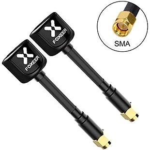 EVAICON FOXEER Lollipop 2 FPV Antenna 5.8G RHCP Mini Antenna for RC FPV Drone TX RX 2pcs(Black):Carsblog
