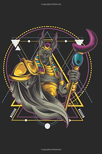 Anubis Warrior Geometric Notebook: Glossy Cover Lined White Pages: Journal for Drawing, Painting, Writing and Doodling 120 Pages 6' x 9'. Warrior ... Martial Arts, Fighter, Boxing, Champion