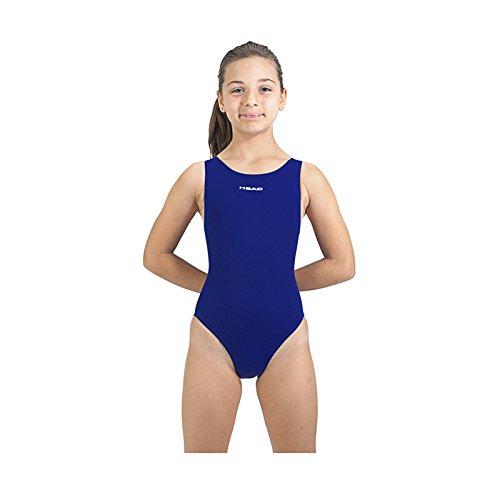 Head Solid Splice Last PBT SWS-Costume da Bagno Intero da Ragazza Blu Azul Marino (NV) 14