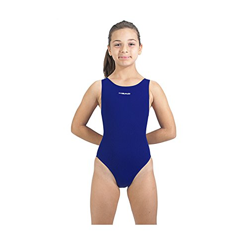 Head SWS Solid Last PBT - Bañador para niña, Color Azul Marino, Talla 14