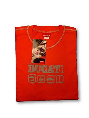 Ducati MotoGP Herren T-Shirt mit Billboard Motorrad Superbikes Orange Gr. XXL, Orange