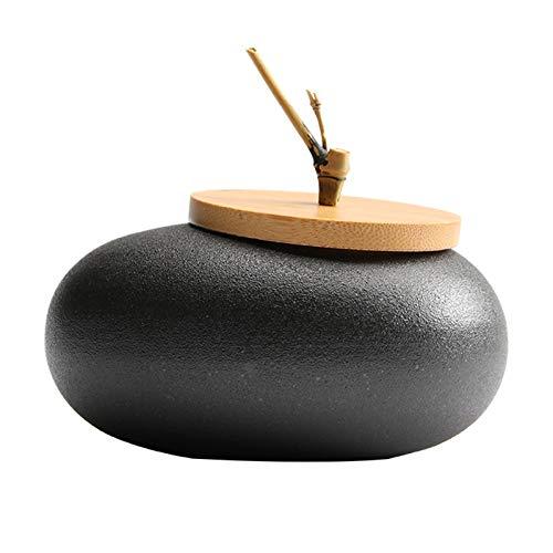 liangh Urne Tierurnen Bestattung,Erwachsene Aus Menschlicher Asche,Handgefertigt Keramik - Urne Der Gräber - Zu Hause,11×11×10cm,F