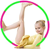 ILNCLUY Kids Hoola Hoop, Detachable & Size Adjustable, Plastic Colorful Hola Hoop Toy for Bodybuilding, Lose Weight, Playing
