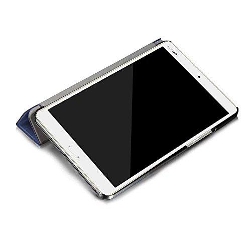 Kepuch Custer Huawei M3 8.4 Hülle - Shell Schutzhülle PU Tasche Smart Case Cover für Huawei M3 8.4 - Blau - 6