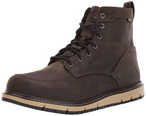 KEEN Utility Men's San Jose 6' Waterproof Soft Toe Work Boot Construction, Cascade Brown/Black, 11.5 Wide