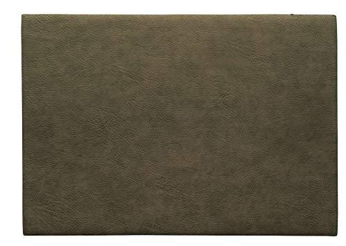 ASA Vegan Leather Tischset, Polyurethane, Khaki, 46 x 33 cm
