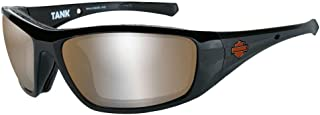 Harley-Davidson Men's Tank Sunglasses, Copper Silver Flash/Black Frame HDTAN09