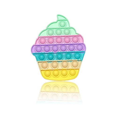 PIANETA Pop it Push it Fidget Toy, Pop Bubble, Gioco Antistress a fine Tensione Giocattolo sensoriale L'autismo allevia l'ansia. per Bambini e Adulti (Ice Cup)
