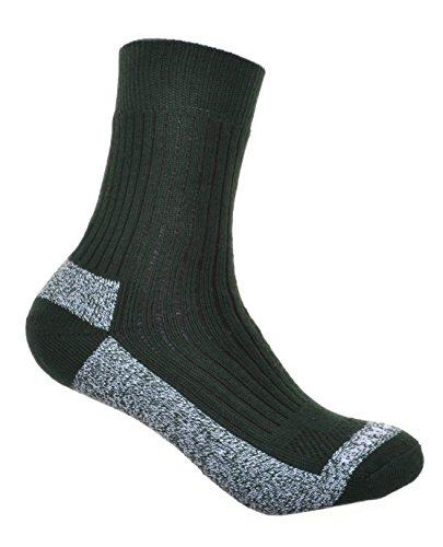 WB Socks 2 Paires de Coolmax Chaussettes de Randonnée Rembourrées en Coton Épais