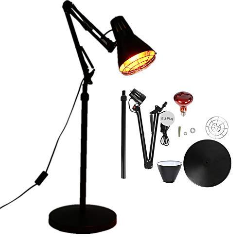 Infraroodlamp Licht Verwarming Vloerstandaardlamp, Basis Verticale Thermostatische Infraroodlamp Met Engelse handleiding kan Pijn Koude Verlichting Constante temperatuur EU 220V