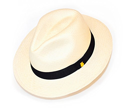 La Marqueza Hats Original Panamahut aus Montecristi Superfino, Strohhut Hut Sonnenhut XX-Large (61 cm), Natur