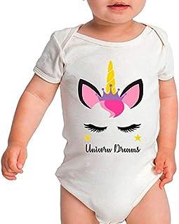 Body Criativa Urbana Bebê Super Lindo e Fofo Unicorns Dreams Girl Unicórnio