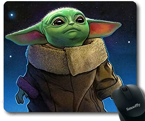 Aoliaofc Star Wars Mouse Pads for Wireless Mouse Comfortable Mouse Mat Precise Control Black Mouse Pad(8.6x7inch)