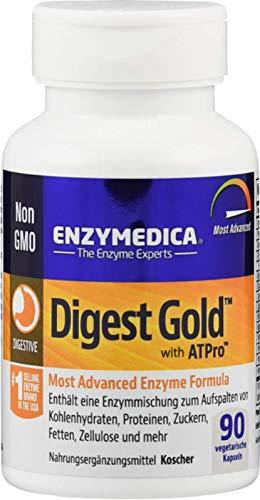 Enzymedica Digest Gold ATPro - Verdauungsenzyme auf pflanzlicher Basis - 100% vegan und ohne Füllstoffe - 90 Kapseln