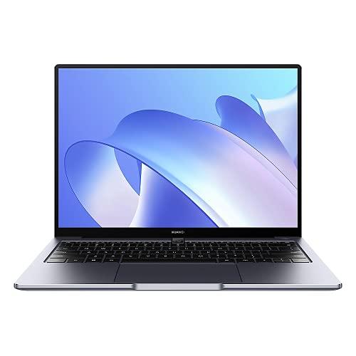 HUAWEI MateBook 14 2021 Laptop, 14 Zoll 2K-FullView-Notebook, Windows 10 Home, Intel Core i7-1165G7,16 GB RAM, 512 GB SSD, Intel Iris Xe, leichtes Metallgehäuse, Fingerabdrucksensor,QWERTZ,Space Gray