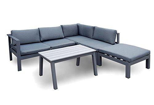 osoltus Gartenlounge Aluminium Lounge Copenhagen modern grau