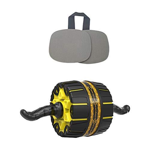 Abaodam 1 Unidades de Rueda Abdominal AB Roller Wheel Equipo práctico de Ejercicio con Rodillera