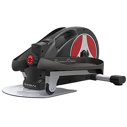 T-Day Stepper Máquinas de Step Entrenador elíptico magnético de Escritorio, Paso a Paso de Ejercicio Ajustable, Equipo de Entrenamiento de Gimnasio en casa (Color : Black)