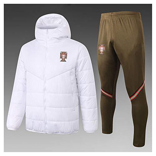 caijj Neue Herren Fußballuniform Geschenk Baumwolle Kleidung Fußball kältesicher Fußballfan kältesicher Anzug Fußball Hoodie männlich-B12x-XL