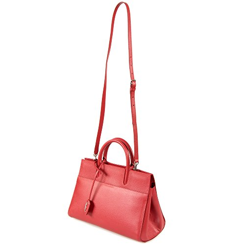 Saint Laurent Women's Cabas Rive Gauche Bag, Red, Small