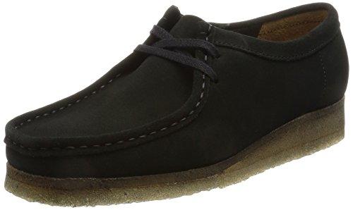 Clarks Wallabee, Zapatos de Cordones Brogue para Mujer, Negro (Black), 41 EU