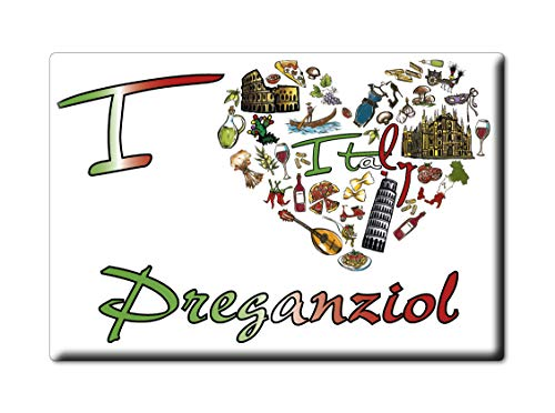Enjoymagnets PREGANZIOL CALAMITA Magnete Veneto (TV) Italia Fridge Magnet Souvenir I Love (VAR. Symbol)