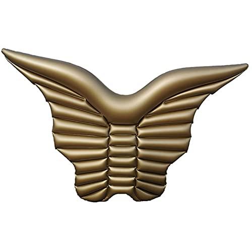 YHSW Sillón Flotante,Anillo de natación Inflable con alas,Fila Flotante,Cama,colchón de Agua,sofá para la Piscina y la Playa,Hamaca Verano al Aire Libre Ocean Lake (160 * 90 cm)