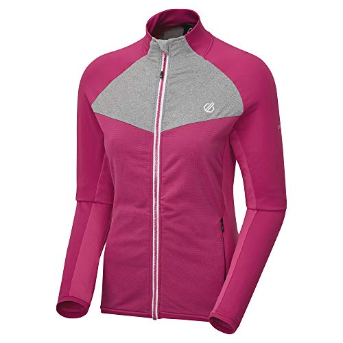 Dare 2b Veste Stretch Extensible ALLEGIANCE II Stretch midlayer Femme Black/Active Pink FR : XL (Taille Fabricant : 16)