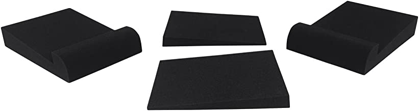 """Pair Rockville RRS190S Foam Studio Monitor Isolation Pads 7.5"""" x 9.5""""/3 Angles"""