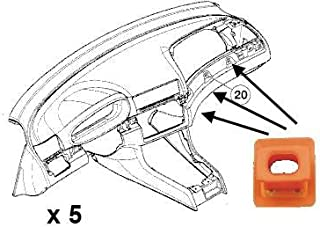 3er [E46], 7er [E65, E66], X3 [E83] Insrumentel Tafel Dekorleiste Aluminium Alu Holz Befestigung Halter Clip Klammer Dübel