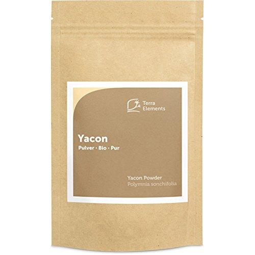 Terra Elements Bio Yacon Pulver, 200 g I Yacon-Wurzel aus Peru I Mit Fruktooligosacchariden (FOS) I 100% rein I Vegan I Rohkost