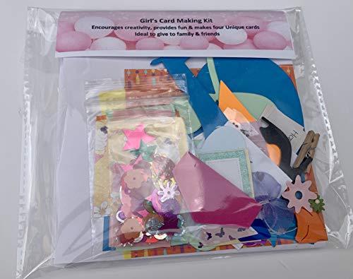 Tarjeta de la niña para hacer – Incluye 4 tarjetas y