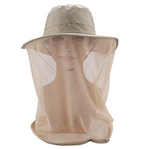 Anti-Moskitonetz für Damen, 360 Mückenkopfnetz, Hut, Outdoor, Bekleidung Klappe mit verstecktem Netz, Wanderhut, Angelmaske, Natur Insektenabwehr für Camping