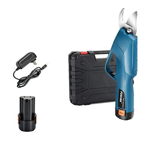 15 mm - 20 mm elektrische snoeischaar, professioneel, oplaadbaar, boom, takken, instelbaar, elektrische schaar, 5-6 uur werktijd, blauw
