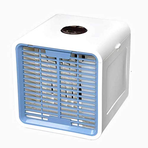 About1988 Portable Air Cooler, 4 in 1 Mini Air Conditioner Cooler and Humidifier, Purifier,3 Fan Speeds, 7 LED Lights Air Cooling Fan for Home Office, Dorm, Travel (With battery)