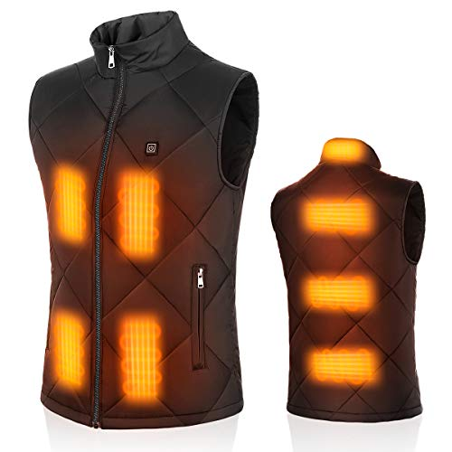 Heated Vest USB Charging Electric Heated Sleeveless Jacket for Men...