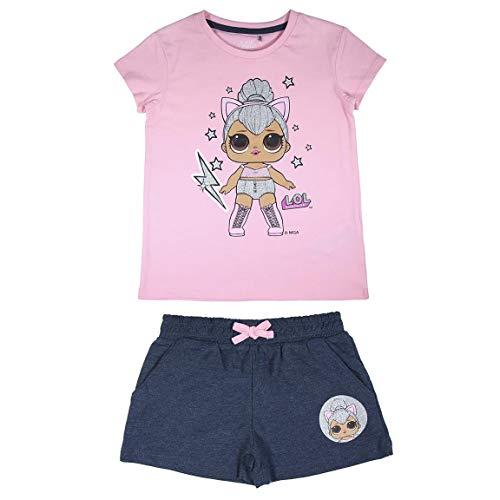 Cerdá - LOL Surprise | Pijama LOL Surprise Niña de Color Azul y Rosa - 100% Algodón