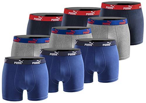 PUMA Herren Boxershort Limited Statement Edition 9er Pack - Sodalite Blue - Gr. L