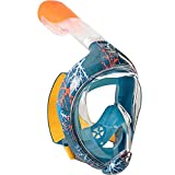 WXFGR Full Face Snorkel Diving Mask Full Face Anti-Fog Panoramic Snorkel Mask for Scuba Diving Snorkeling (Color : B, Size : XS)
