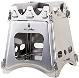 kampMATE WoodFlame Ultra Lightweight Portable Wood Burning Camping Stove, Backpacking Stove,...