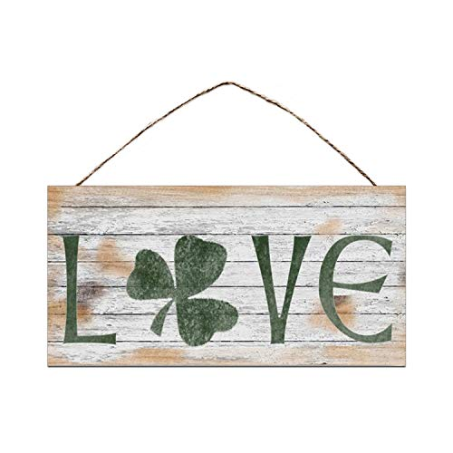 ZHUOHAOZI Love Sign, Shamrock Sign, Rustic and Distressed Style, Holiday Door Sign, 5' x 10' Sign, St. Patrick's Day Sign, Irish Decor