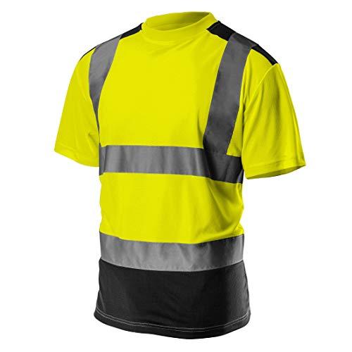 Profi Warnschutz T-Shirt Kurzarm Arbeitsshirt Kurzarmshirt Warnshirt Arbeitshemd orange gelb S-XXL (gelb, XL)