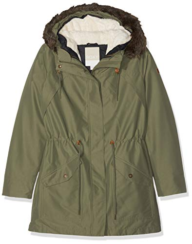 Roxy Damen Amy Jacke, Grün (Four Leaf Clover GPH0), Large
