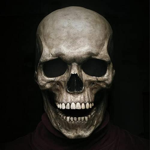 Full Head Skull Mask/Helmet with Movable Jaw – Skull Mask Full Face Halloween, 3D Skeleton Mask Full Head,Horror Cosplay…