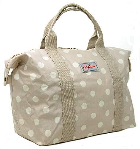 Cath Kidston - Bolsa de la compra plegable, diseño de lunares, color beige
