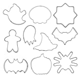 Romote Molde De Galletas De Halloween Acero Inoxidable DIY Craft Fondant Bizcocho Making Kit De Molde 10pcs Favor