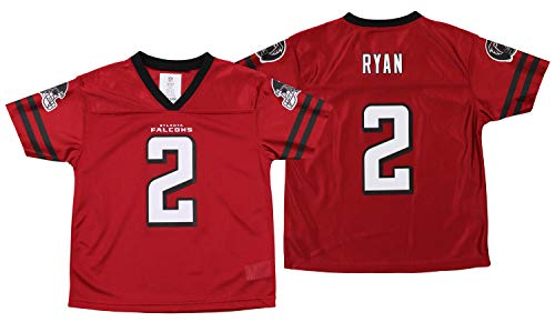 Outerstuff NFL Youth (4-18) Atlanta Falcons Matt Ryan Team Color Player Jersey, Red Medium (8)